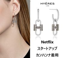 【Hyeres lor】Heriter Silver Link ピアス Silver