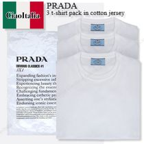 PRADA 3 t-shirt pack in cotton jersey
