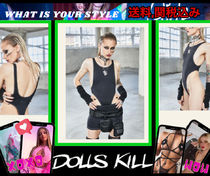 個性惹き立つ【 DOLLS KILL 】WAIST CONTRAST STITCH BODYSUIT
