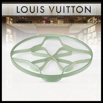 【LOUIS VUITTON】LEATHER ROSACE TRAY MM グリーン