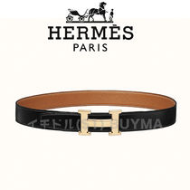 HERMES エルメス H Strie belt buckle leather strap 32mmベルト