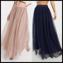 ASOS Lace & Beads tulle maxi skirt