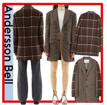 ★【ANDERSSONBELL】★CONTRAST NEW DADDY CLASSIC WOOL JACKE.T