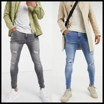 ASOS River Island spray on ripped jeans