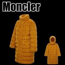 【MONCLER】★取り外し可能フード*袖ロゴ付き*ロングパーカー★*