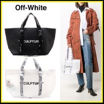 "Off-white ★Small ""コマーシャル"" トート【国内発・関税込】"