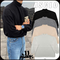 【ASCLO】Mr over ribbed polar T-shirt★4色