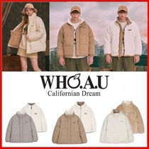 ◆WHO.A.U◆Reversible boa short down jacket◆正規品◆