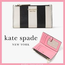 kate spade spencer stripe small slim bifold wallet ミニ財布