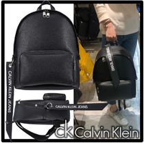 ★関税込★Calvin Klein★LOGO STRAP BACKPAC.K★正規品