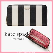 kate spade spencer stripe zip-around continental wallet