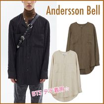 ★BTS V着用★【ANDERSSON BELL】COLLARLESS WRINKLE SHIRTS/3色