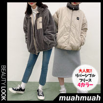 【muahmuah】大人気★Reversible muah fleece jumper 4色