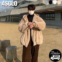 ASCLO Daily mink hood zip-up YJ807 追跡付