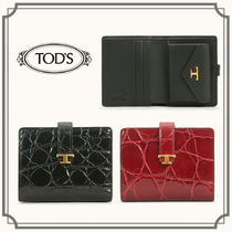 TOD'S☆CREDIT CARD HOLDER IN LEATHER 二つ折りミニ財布☆送込