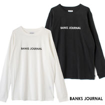 【最短翌日着】BANKS LABEL L/S TEE SHIRT 長袖 ロンT WLTS0051