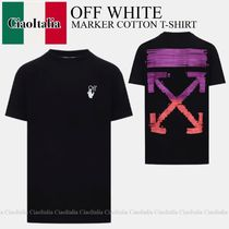 OFF WHITE  MARKER COTTON T-SHIRT
