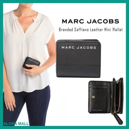 【MARC JACOBS】Branded Saffiano Leather Mini Wallet♪