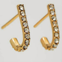 Massimo Dutti【NEW】Gold-plated curved earrings
