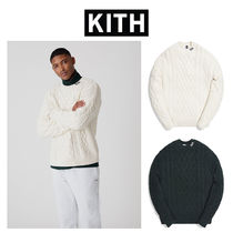 ★KITH★ロゴ ケーブルニット全2色 GRAMERCY CABLE MOCK NECK