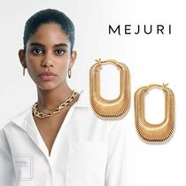 【MEJURI】エレガント〇Les Textured Hoops〇ゴールドピアス
