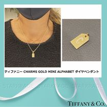 [Tiffany] CHARMS 18K Gold Mini Alphabet ダイヤペンダント