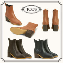 TOD'S☆ANKLE BOOTS IN LEATHER レザーアンクルブーツ☆送料込