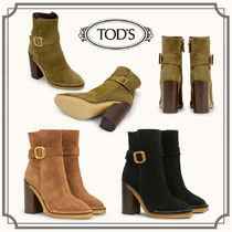 TOD'S☆ANKLE BOOTS IN SUEDE スエードアンクルブーツ☆送料込