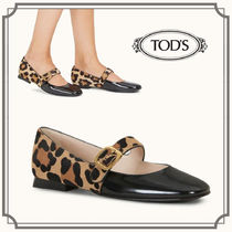 TOD'S☆BALLERINAS IN LEATHER レオパード柄パンプス☆送料込
