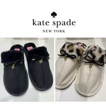 Kate Spade★Lacey ファー付スリッパ