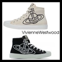 【VivienneWestwood】High Top Trainers 2色 キャンバス オーブ