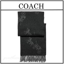 ◆◆ COACH コーチ ◆◆ Horse And Carriage 大判マフラー black