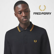 FRED PERRY(フレッドペリー) ポロシャツ 【人気アイテム】FRED PERRY Long Sleeve Twin Tipped PoloShirt