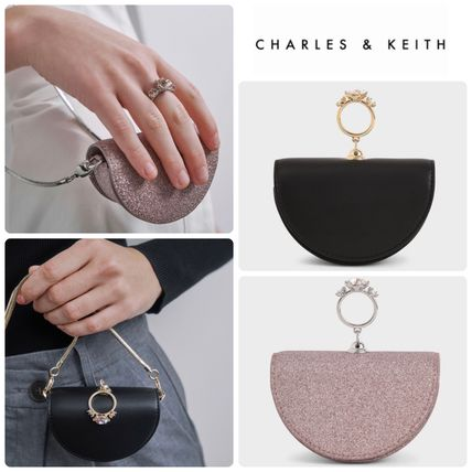 ★CHARLES&KEITH★Embellished Glittered Circle Pouch/送料込