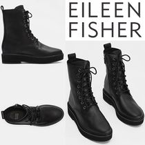 Eileen Fisher, 限定 Nellie レザーレースアップブーツ