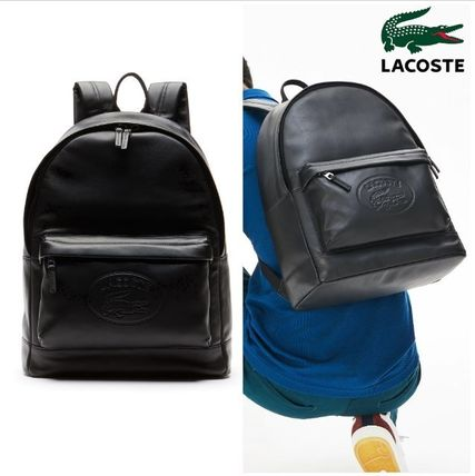 ■SALE■【LACOSTE ラコステ】エンボスレザーバックパック