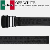 OFF WHITE CLASSIC INDUSTRIAL LOGOED FABRIC BELT