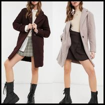ASOS New Look teddy boucle tailored coat