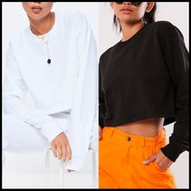 Missguided basics long sleeve cropped sweat