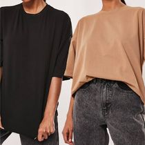 Missguided 2 pack oversized t-shirts with drop shoulder