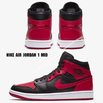 NIKE★AIR JORDAN 1 MID★BLACK/GYM RED/WHITE
