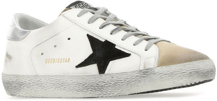 【GOLDEN GOOSE】SUPERSTAR LE / GMF00101 WHITE BROWN SILVER