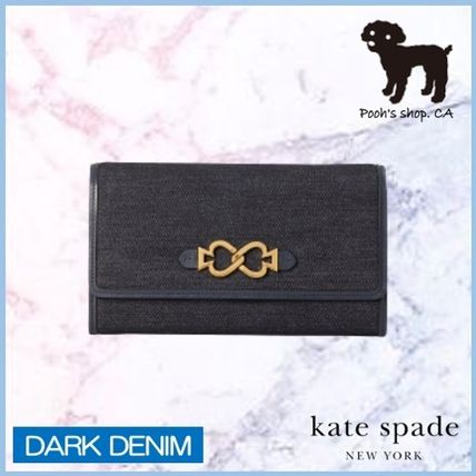 kate spade new york ショルダーバッグ・ポシェット 【Kate Spade】toujours denim chain clutch◆国内発送◆(2)