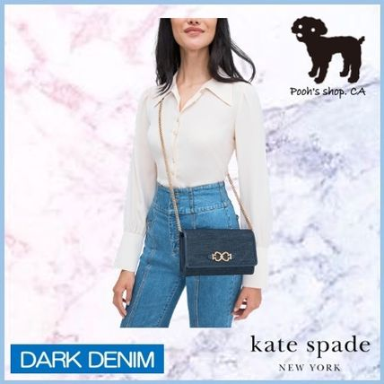 kate spade new york ショルダーバッグ・ポシェット 【Kate Spade】toujours denim chain clutch◆国内発送◆(3)