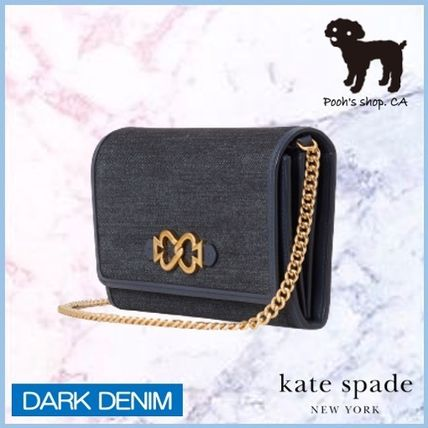 kate spade new york ショルダーバッグ・ポシェット 【Kate Spade】toujours denim chain clutch◆国内発送◆(4)