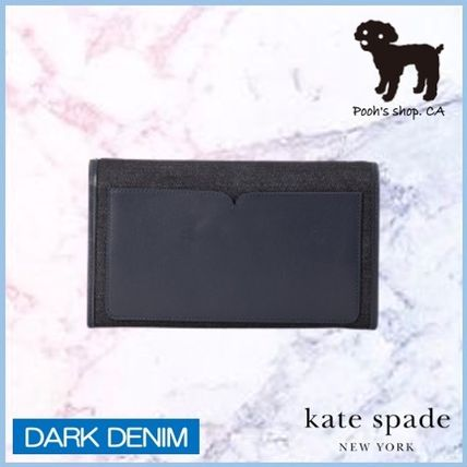 kate spade new york ショルダーバッグ・ポシェット 【Kate Spade】toujours denim chain clutch◆国内発送◆(6)