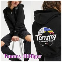 Tommy Jeans ロゴジップパーカー/black