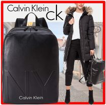 ★【Calvin Klein】★SHAPED ROUND BACKPAC.K★バックパック★黒
