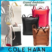 Cole Haan◆Grand Ambition ぺブルレザーバックパック◆気品