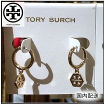 Tory Burch☆HEX LOGO HUGGIE HOOPS フープピアス☆送料込